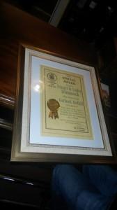 Garland Presentation certificate
