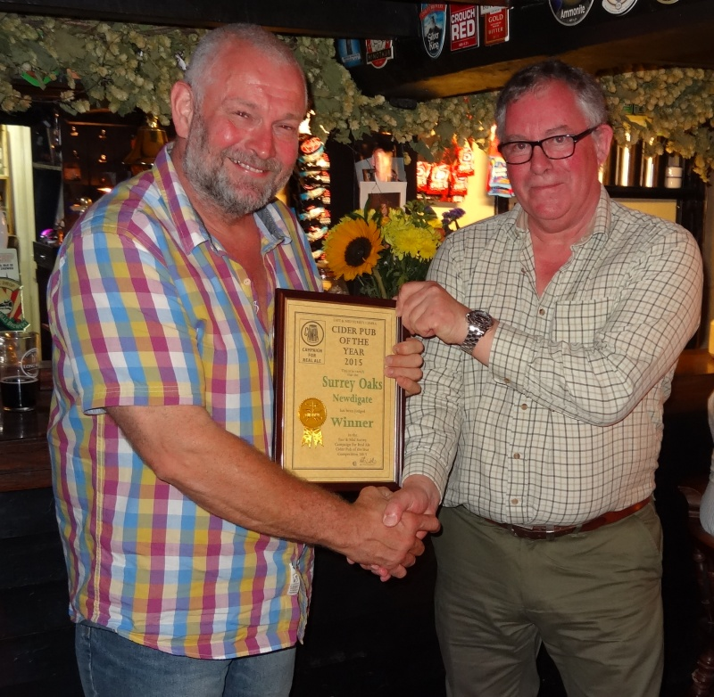 E&MS Cider Pub Of The Year 2015 Award