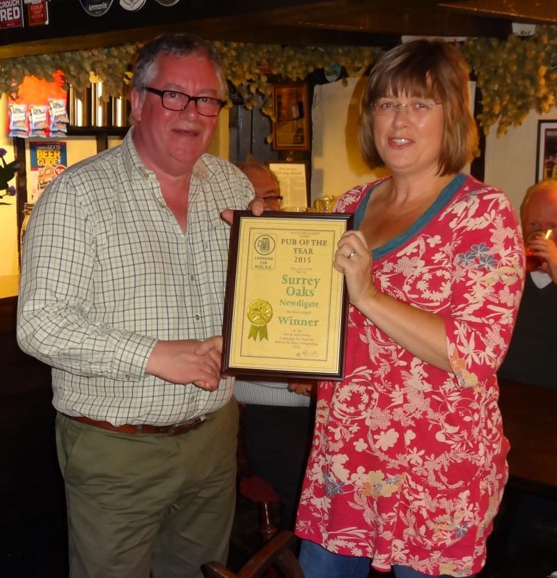 E&MS Pub Of The Year 2015 Award